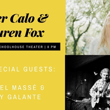 Friday August 23 8pm Schoolhouse Theater Celebrating 50 years : 3 day of peace love and music @ Yasgur's Farm, 1969 Peter Calo and Lauren Fox with Chris Marshak, Jamie Mohamdien with special guest Laurel Massè and Holly Galante yak you Back to the Garden. For tix schoolhousetheater.otg