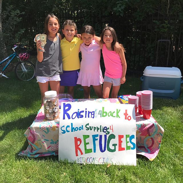 Sneak preview... we're starting to raise $ for school supplies for our back to school drive for refugees supported by Denver Health Foundation. More details about this drive to be announced soon! #lemonadestand #littleleaders #givingback #denverhealthfoundation #civicsandcommunity