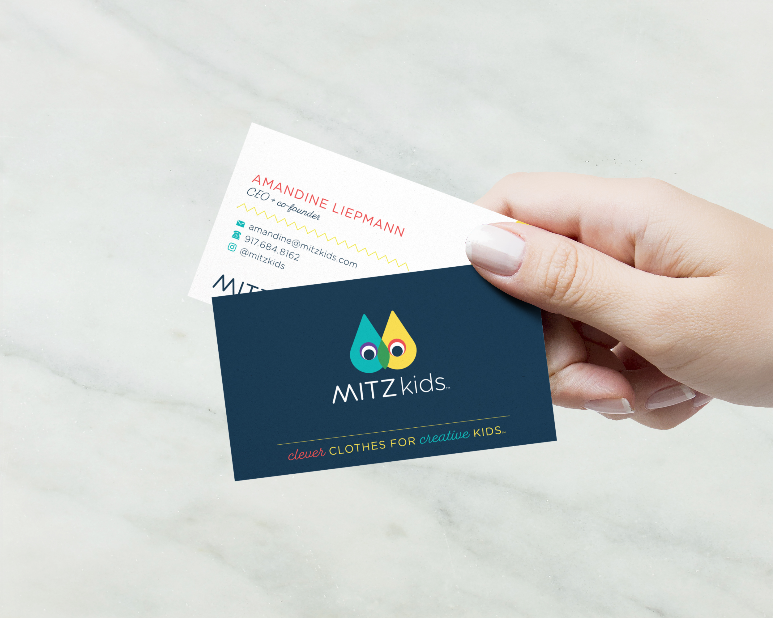 Mitz Kids Business Card Design | Curious & Co. Creative