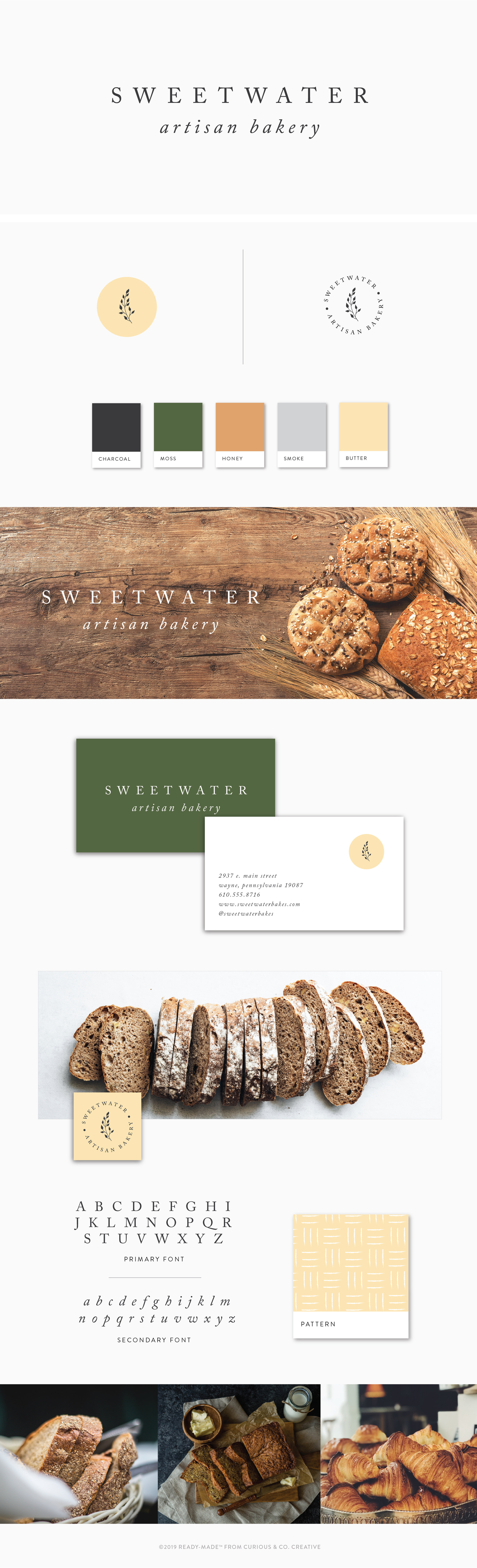 Brand Board Sweetwater   Ready-Made from Curious & Co. Creative
