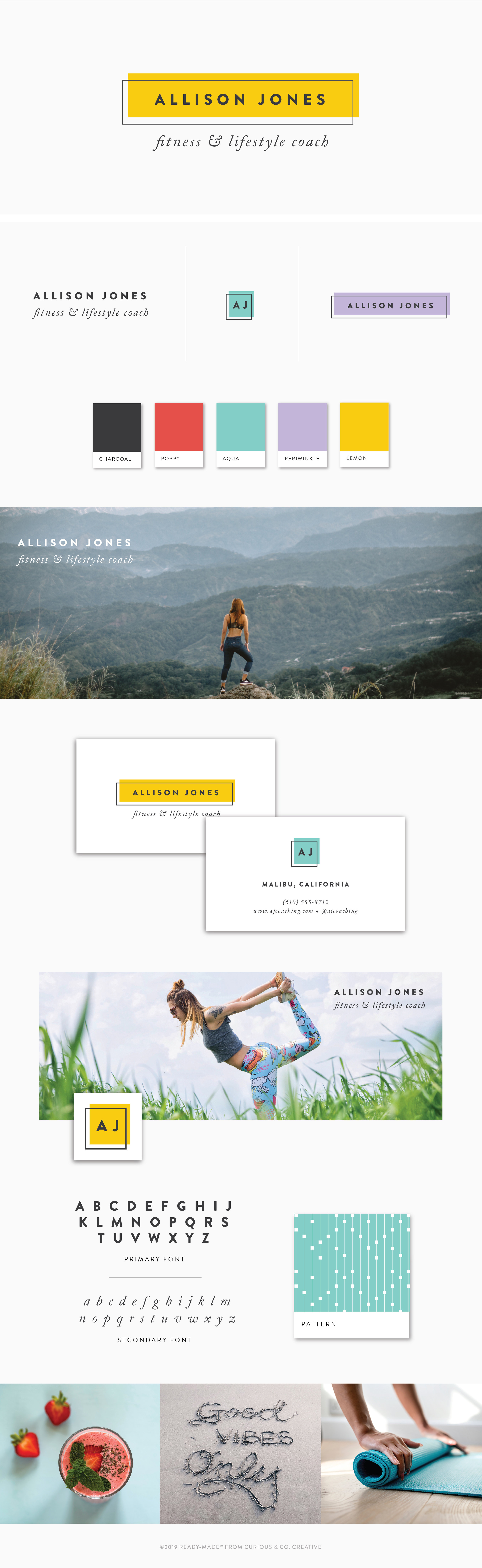 Brand Board Jones | Ready-Made from Curious & Co. Creative