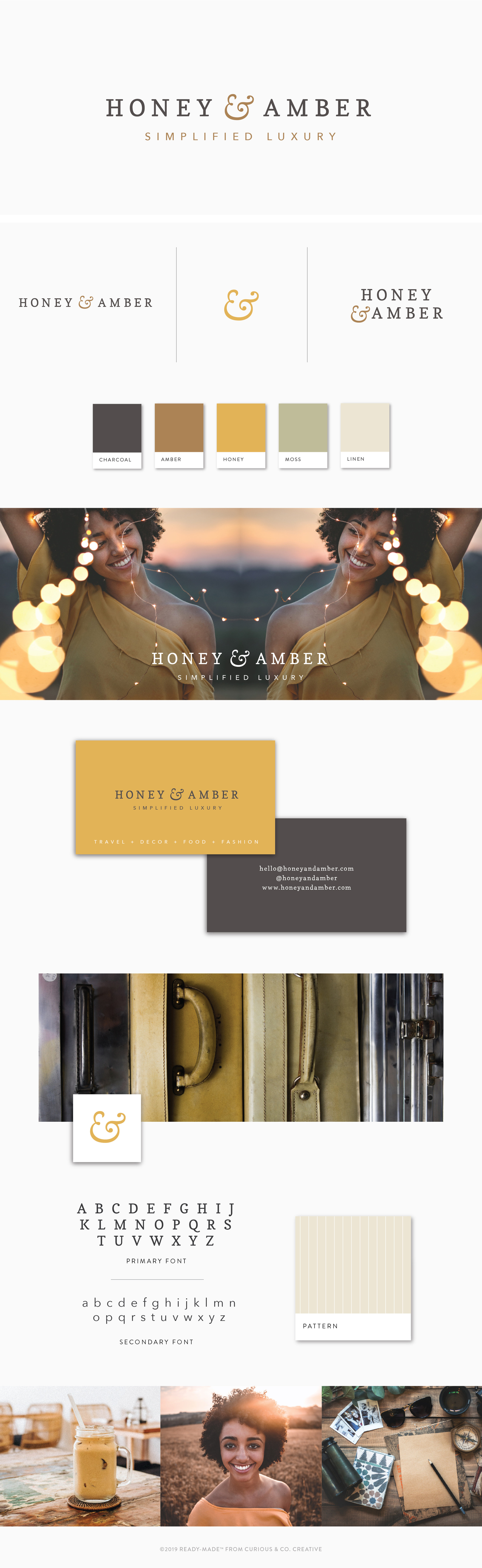 Brand Board Honey   Ready-Made from Curious & Co. Creative