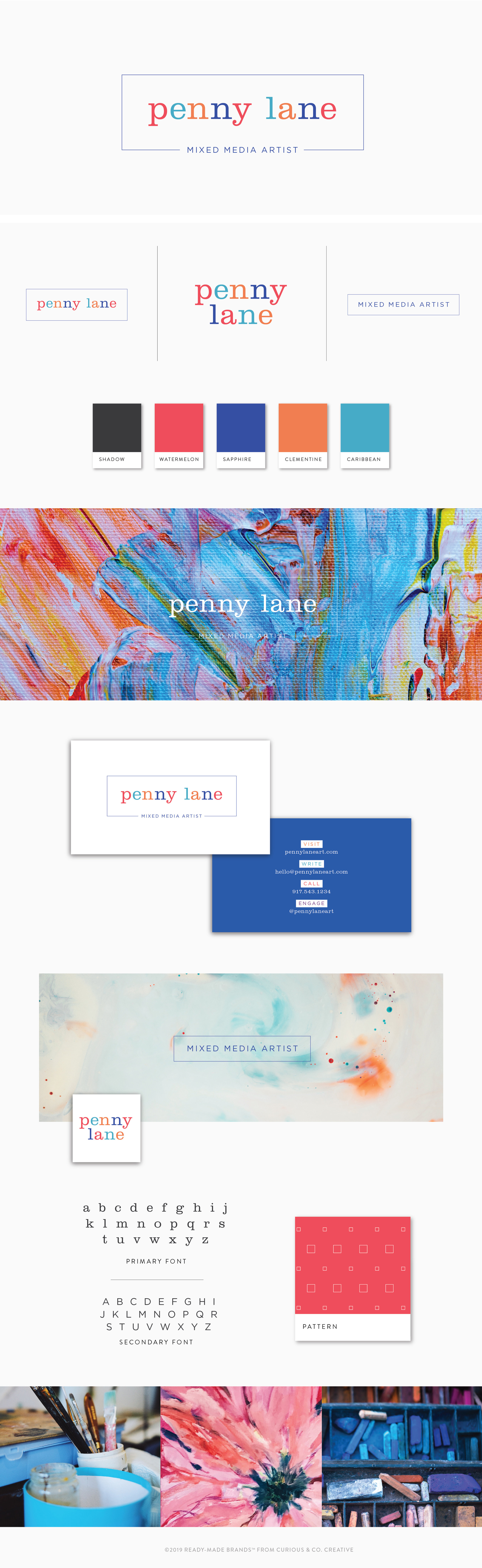 Brand Board Penny | Ready-Made from Curious & Co. Creative
