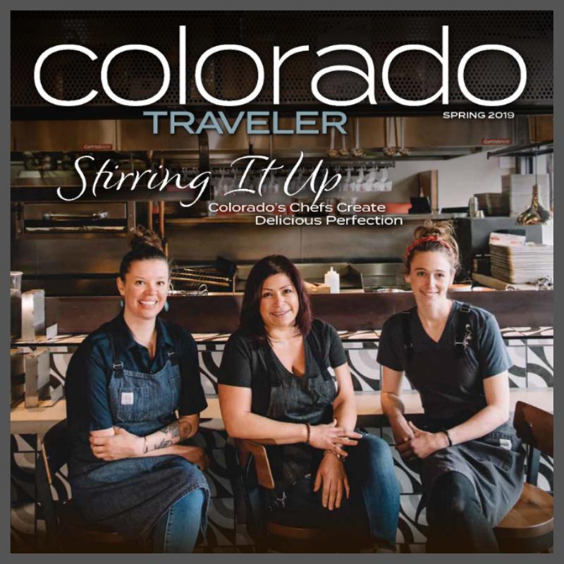 The cover of Colorado Traveler Magazine, Spring 2019