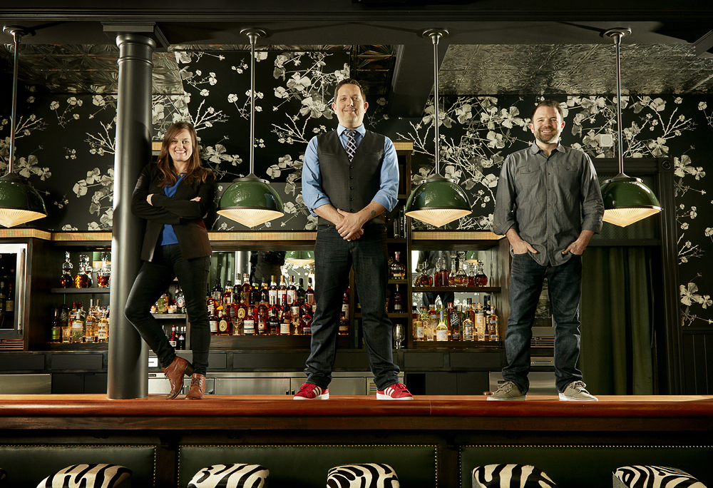 The Wildhawk Bar Team, (from left to right) Karri Kiyuna, Jacques Bezuidenhout, Ken Luciano