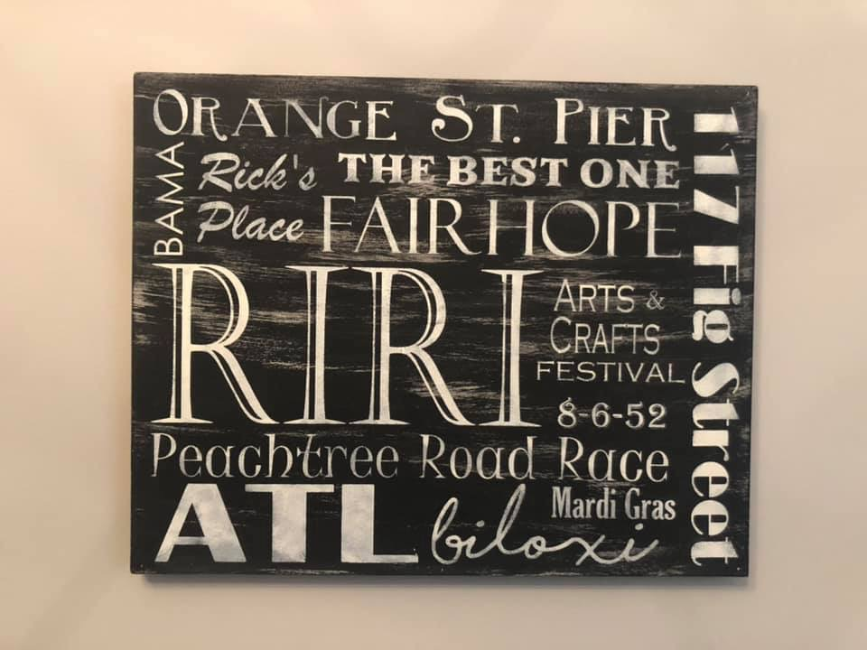 Custom Subway Art makes a great gift! We can design virtually any size!