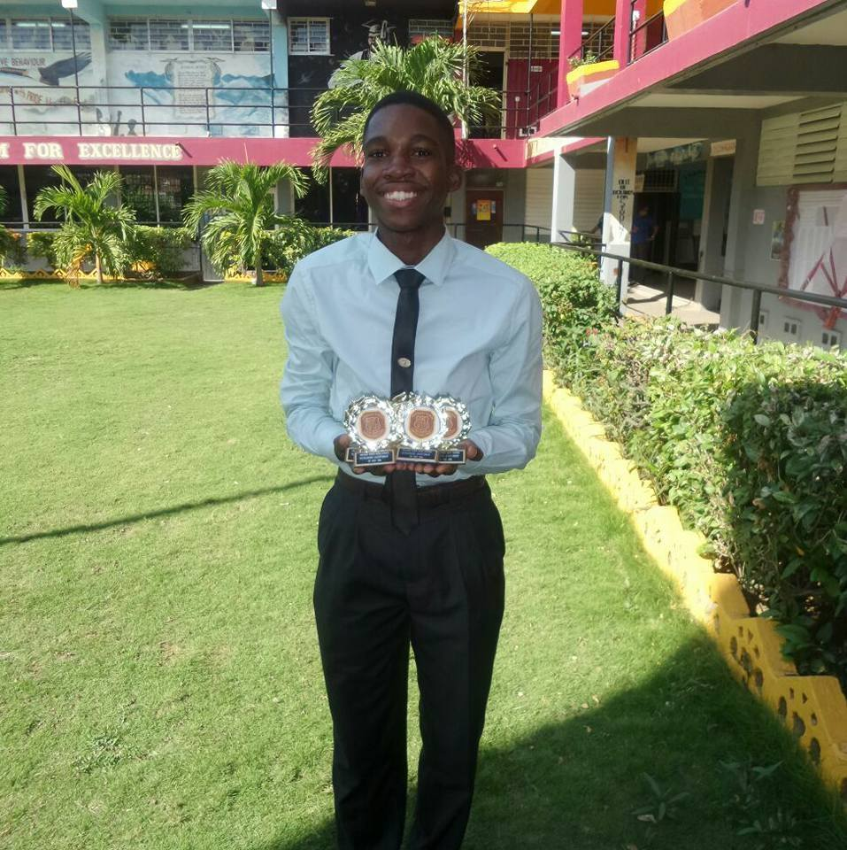 """- Name: Joel HallUniversity/ College: University of Technology""""Land We Love, I sincerely believe that through hard work, fierce dedication and faith all things are possible. I will do my utmost best to make your organization proud! You have enhanced my opportunity of becoming one of Jamaica's best engineers."""""""