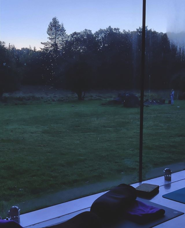 Early birds get to see lovely views from their yoga mat 🌅⁠ .⁠ .⁠ .⁠ #yoga  #earlyriser #earlybird #yogaretreat #yogapractice #catchtheworm