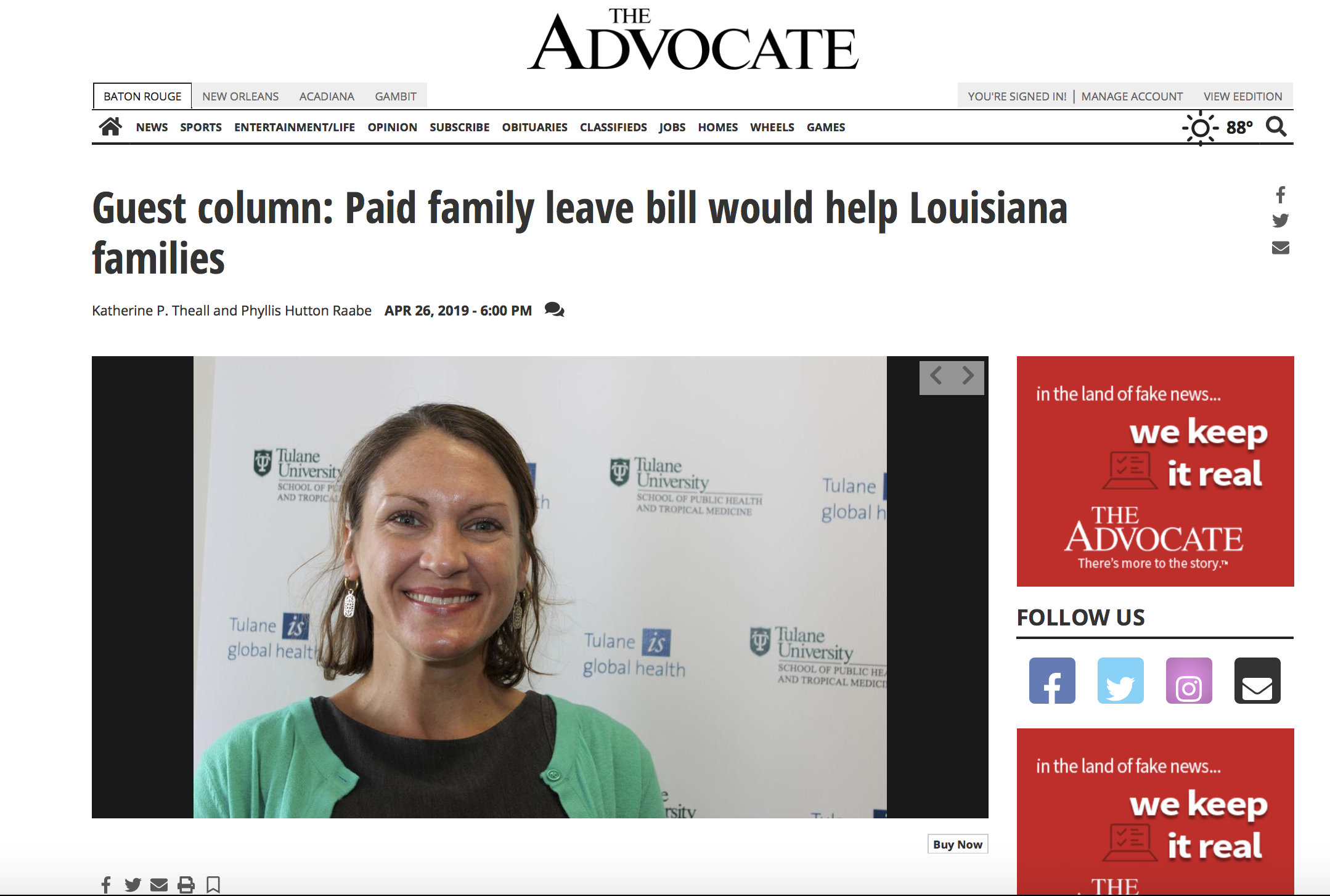 Louisiana Families First | Advocating for Paid Family Leave