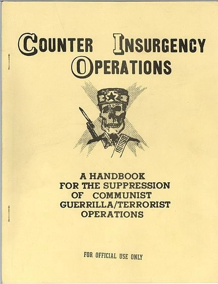 CIA and U.S. Army manuals used at the School of the Americas (now WHINSEC) have detailed torture techniques and advocated extortion, blackmail, and the targeting of civilian populations.