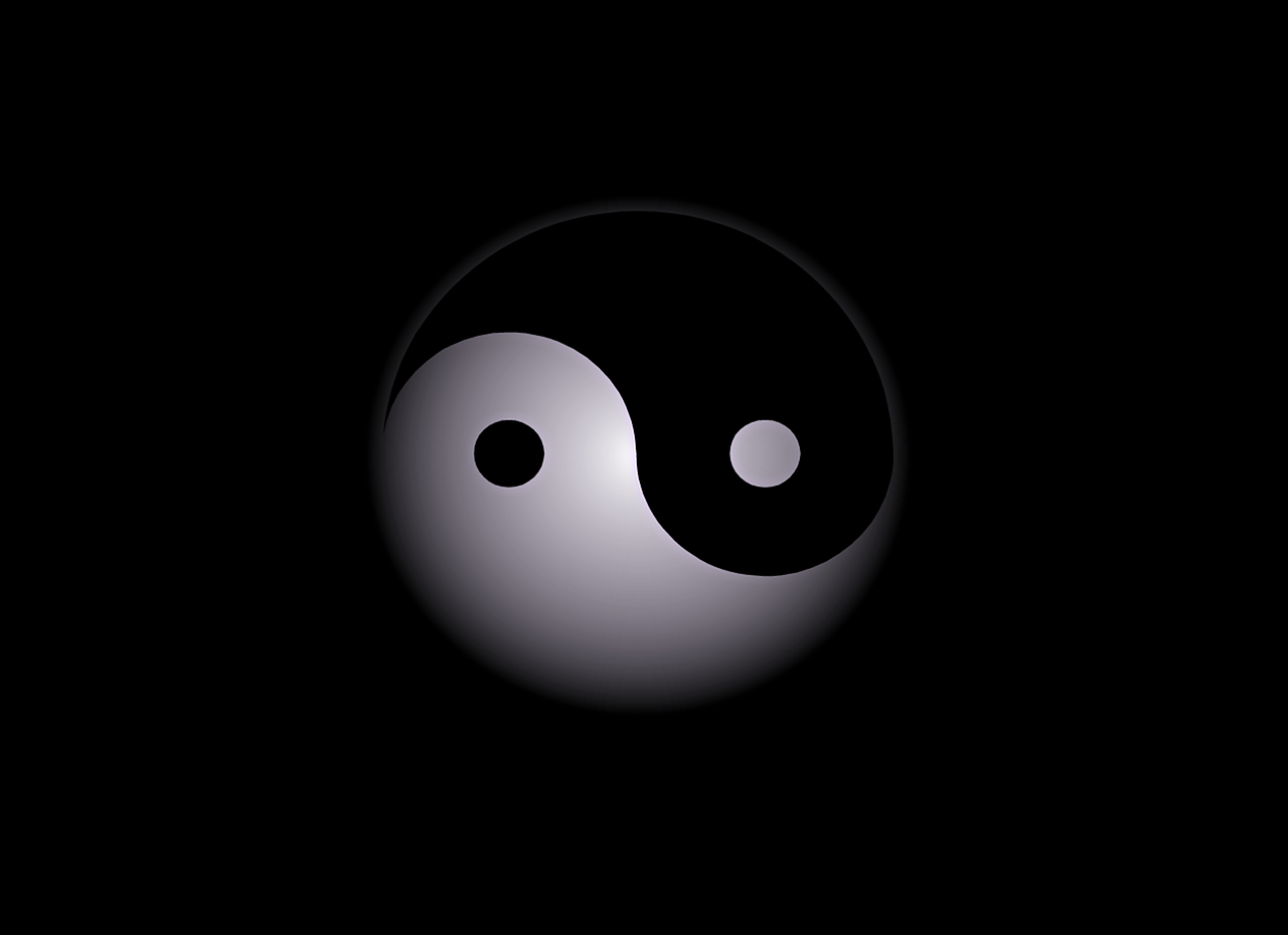 Yin & Yang Work Together to Create 'Balanced Action'. -