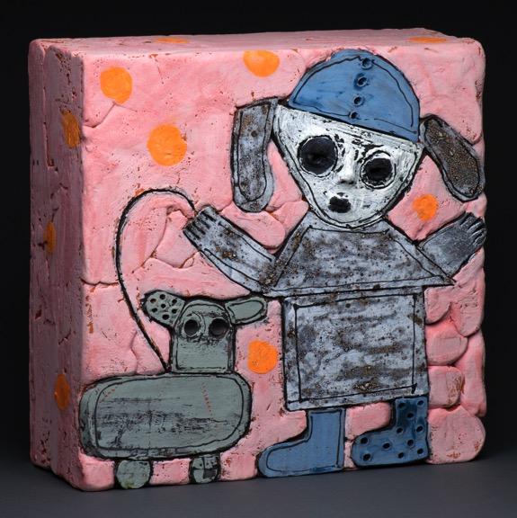 Girl with Dog wall box