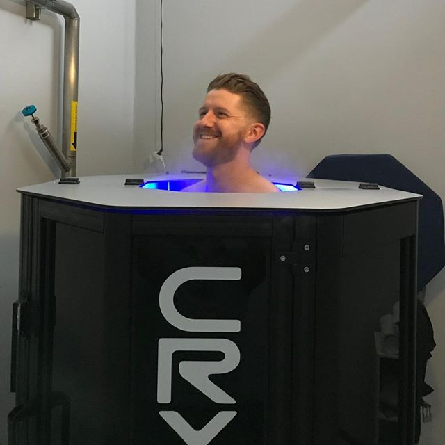 The face of a man that knows he will get great sleep tonight! Cold exposure increases endorphins and norepinephrine which can help improve sleep. 😴💤 #cryoshieldtherapy #cryotherapy #cryo #wholebodycryotherapy #cryosauna #impactcryotherapy #sandiegocryotherapy #sandiego #delmar #shopflowerhill #painmanagement #sportsrecovery #musclerecovery #bettersleep