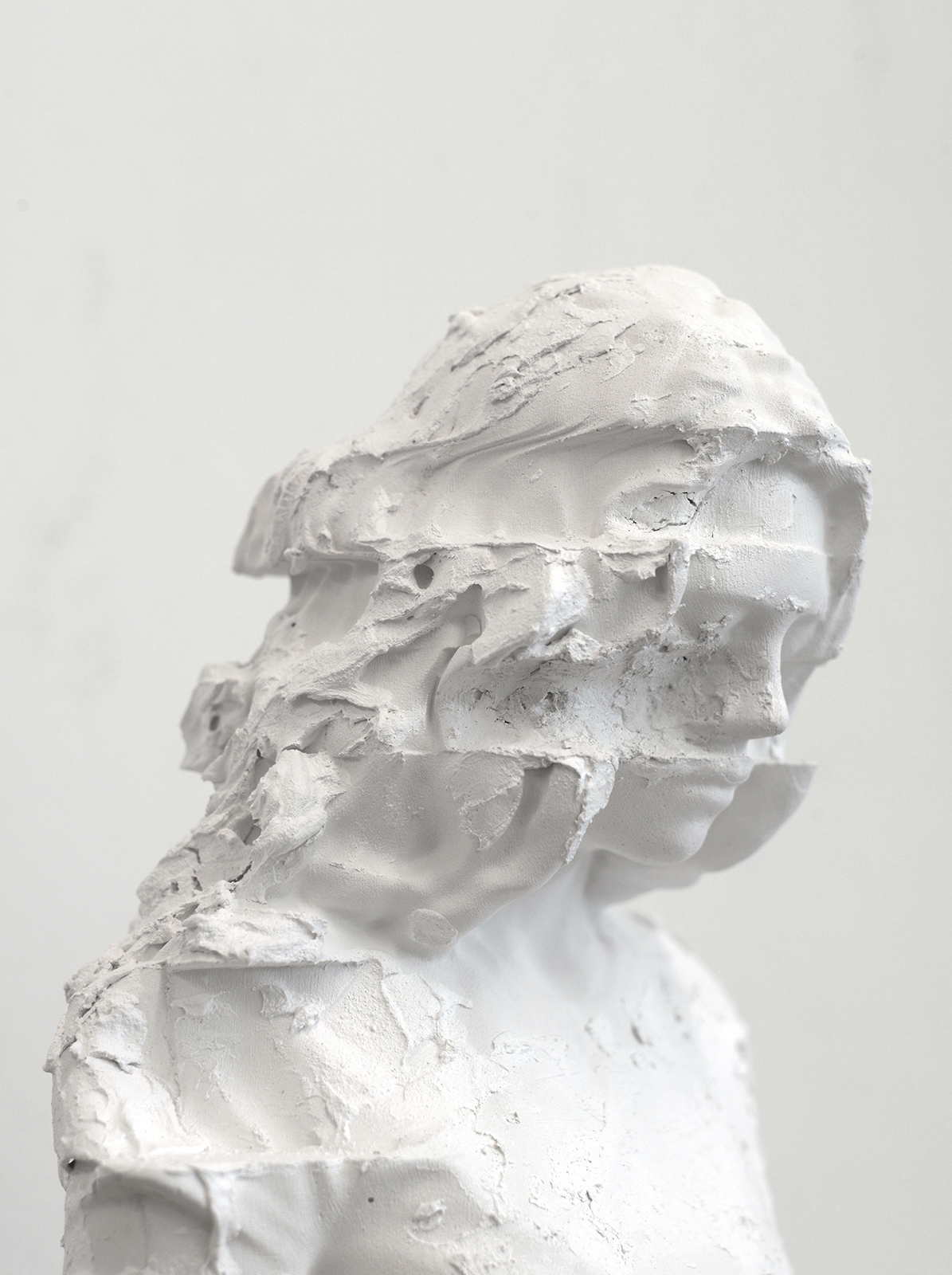 Bust I   ,  2014 Plaster Edition of 3 + 1 AP 28 x 24 x 16 cm