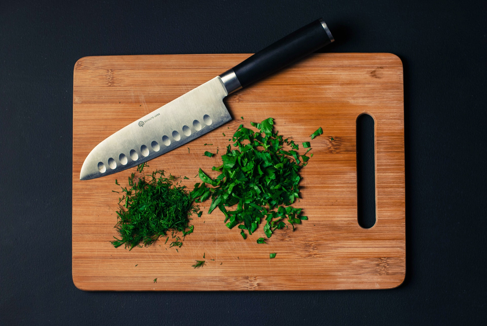 Dill and parsley, chopped and at the ready