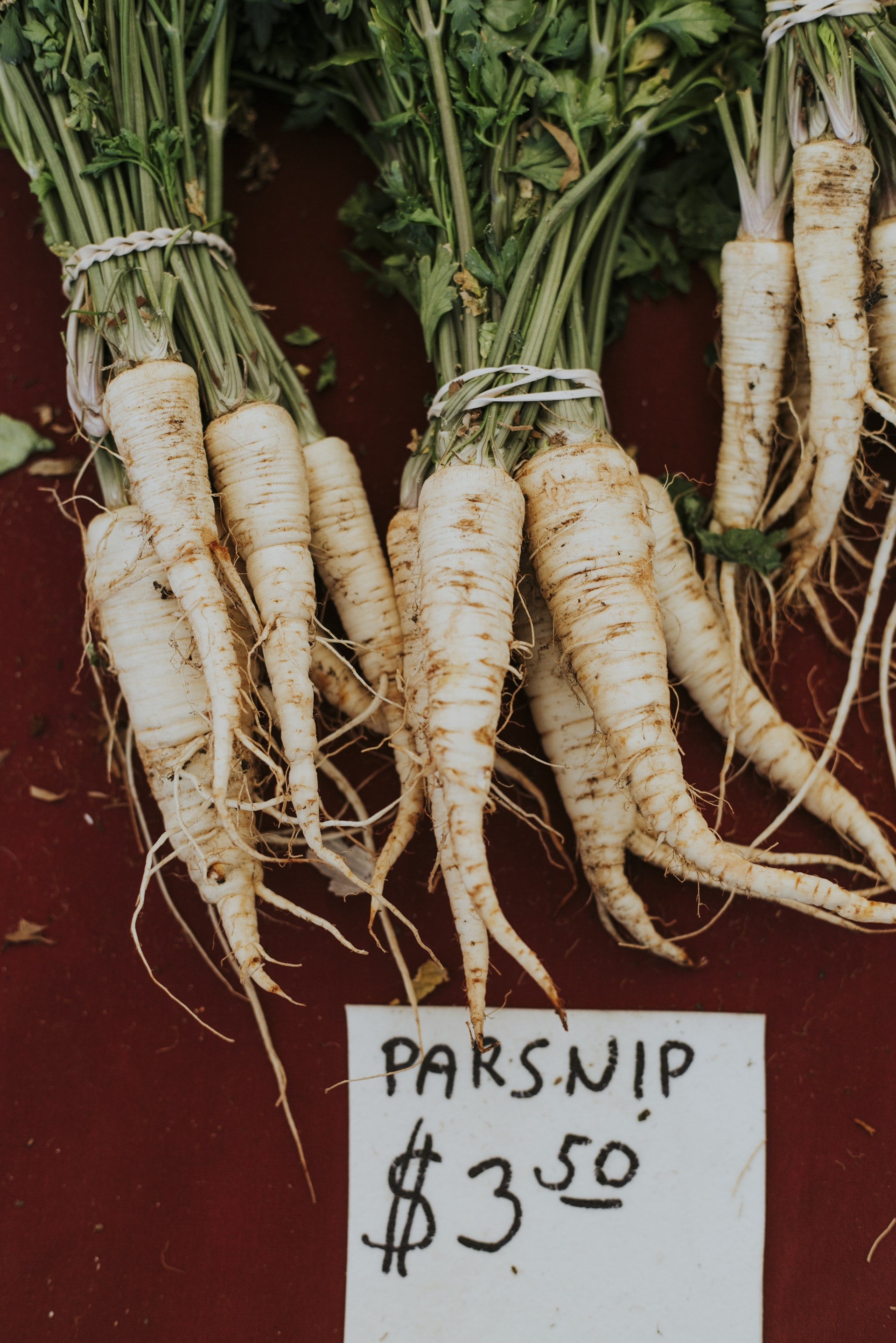 above: roasted parsnips with rosemary from martha stewart