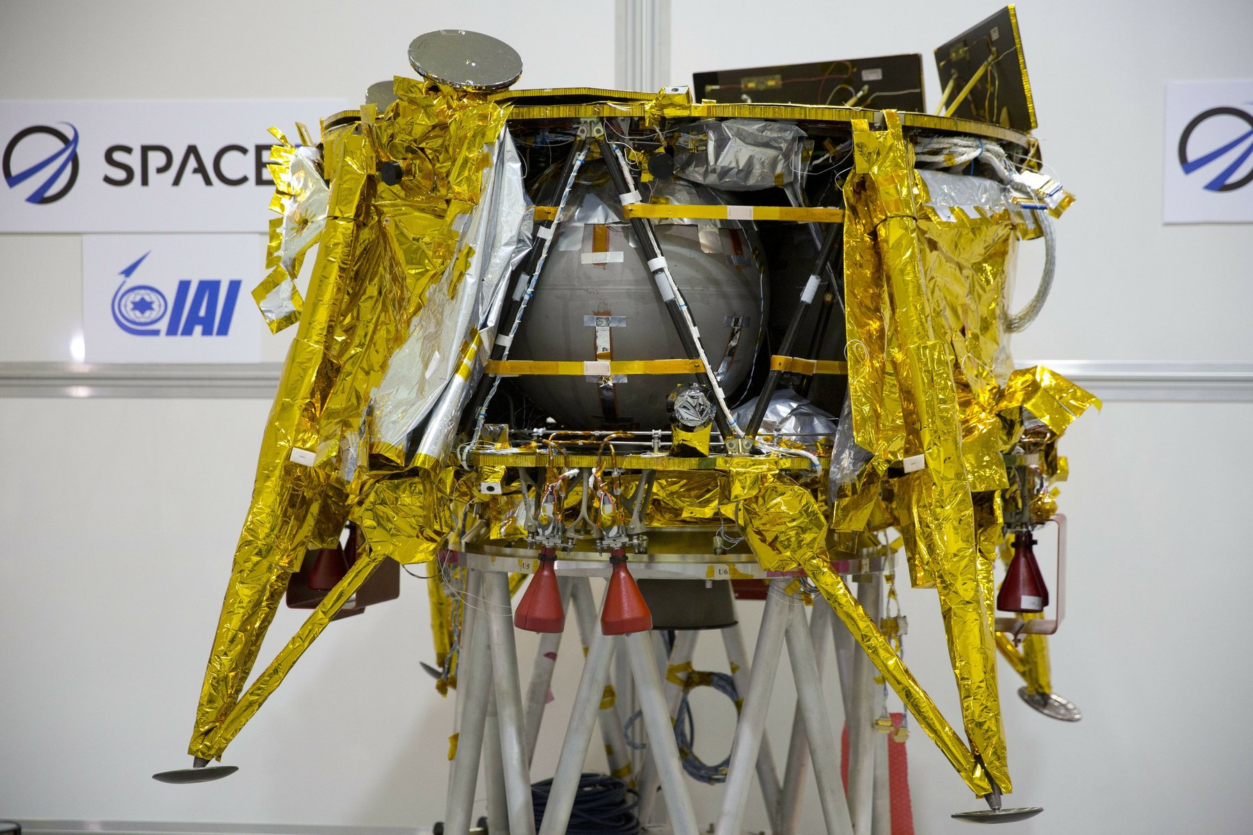 The SpaceIL Beresheet Lunar lander is privately funded and represents the first time a non-government has attempted to landed on the Moon. Credit: ISI