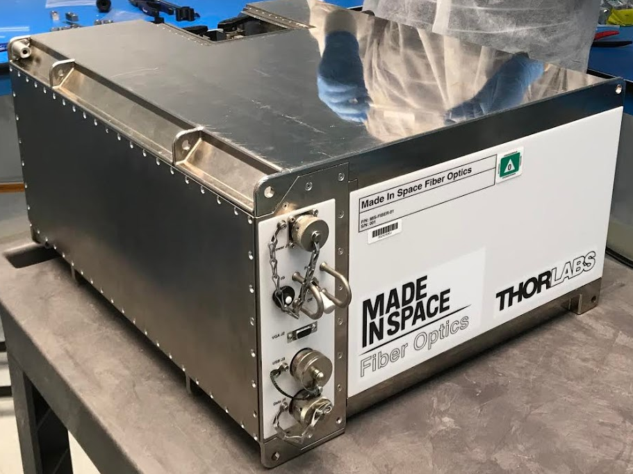 Made In Space Fiber Optics manufacturing system preparing for launch to the ISS. Credit: Made In Space