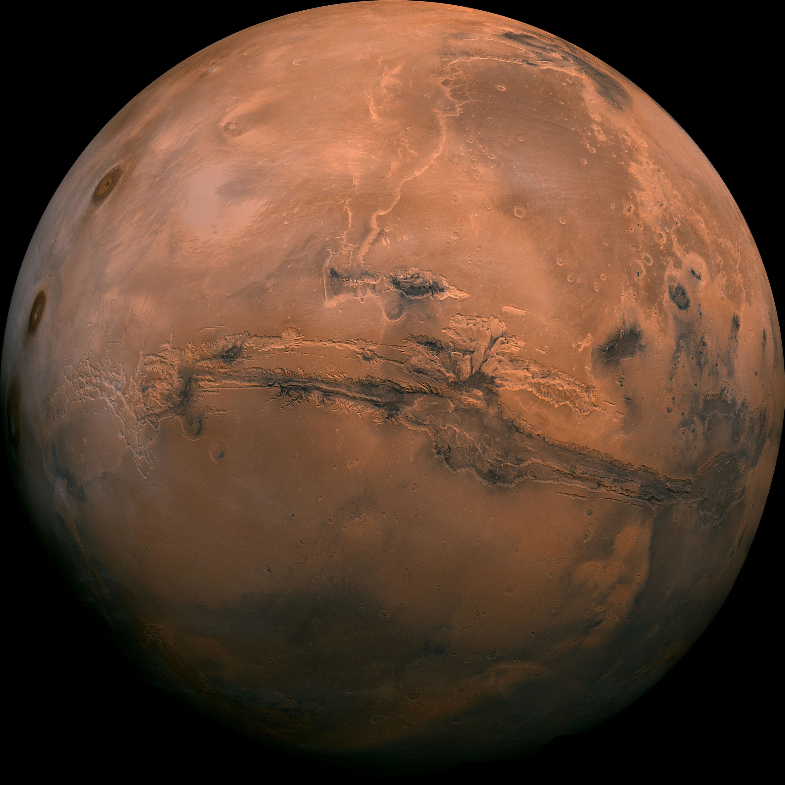 Mosaic of Mars composed of 102 Viking Orbiter images. Credit: NASA/JPL-Caltech