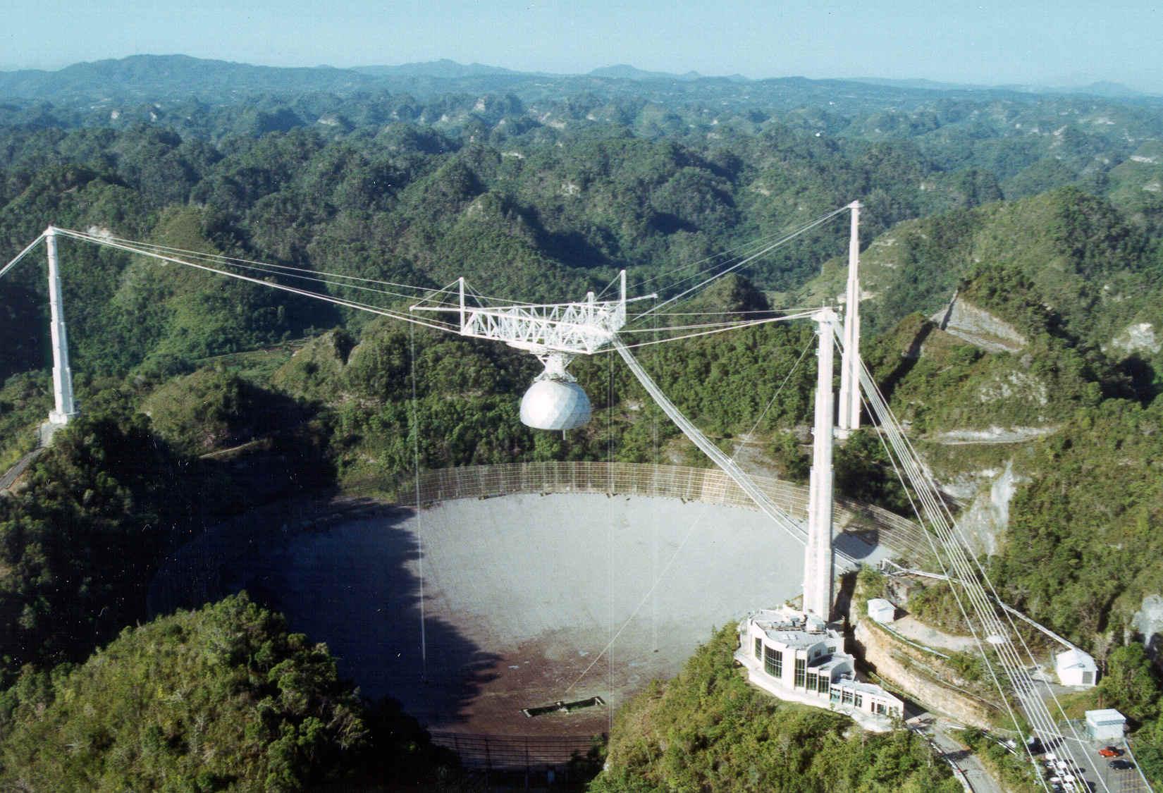 The Arecibo Observatory in Puerto Rico is one of the best tools for studying and categorizing known near-Earth asteroids. A recent NASA grant allows up to 800 hours of observation per year purely for observing asteroids. Credit: University of Central Florida.
