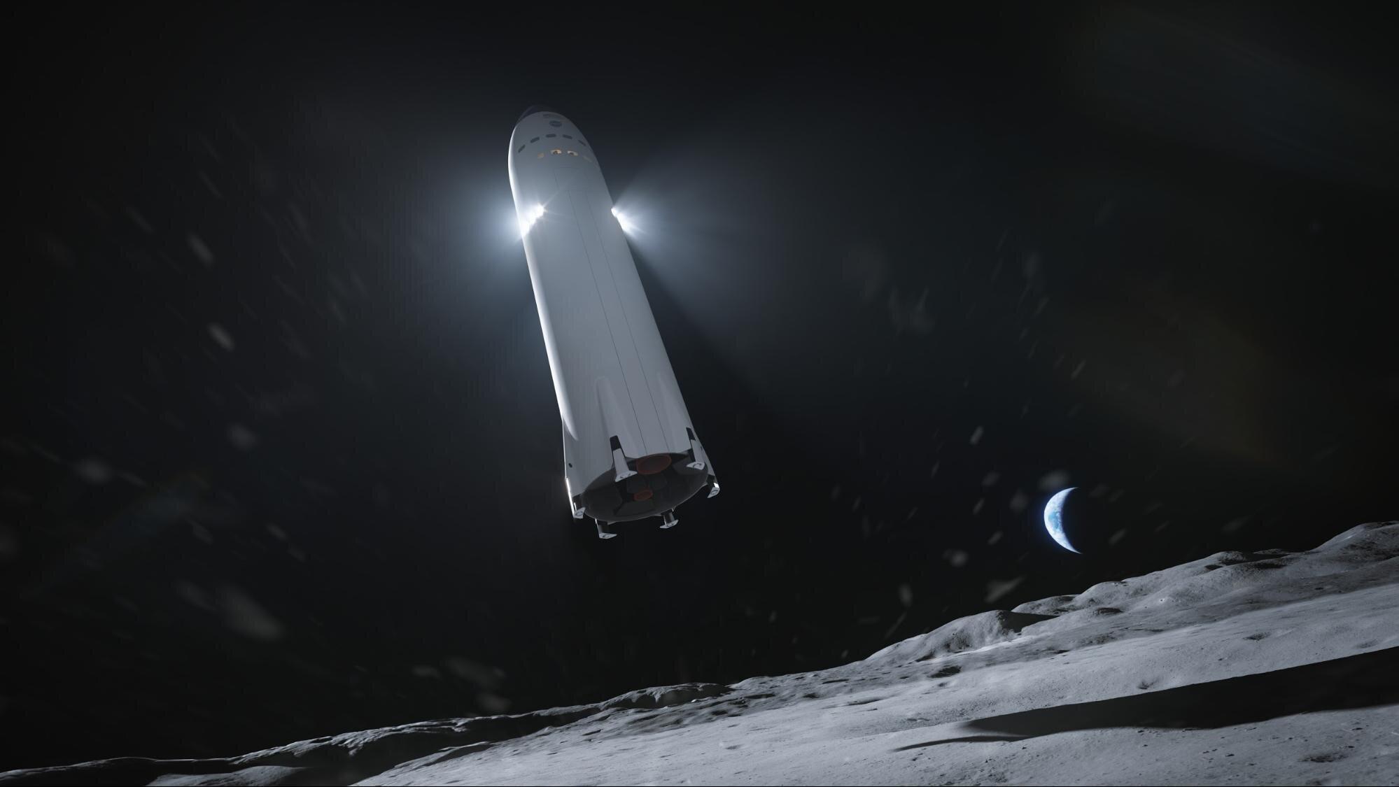 SpaceX Human Lunar Lander Starship. Source: SpaceX.