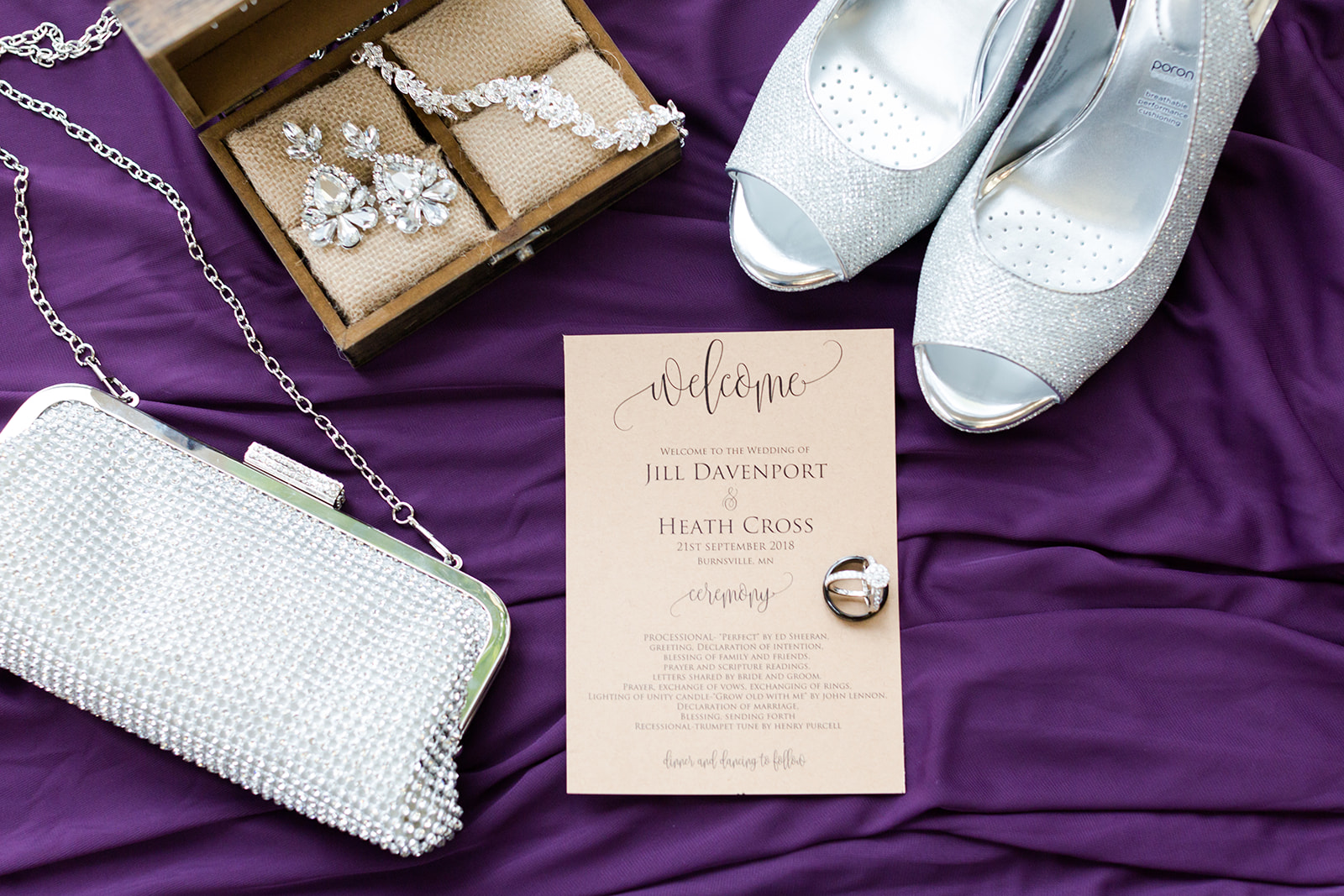 :Lindsey White Photography | Flat lay wedding details at Royal Cliff in Eagan event center