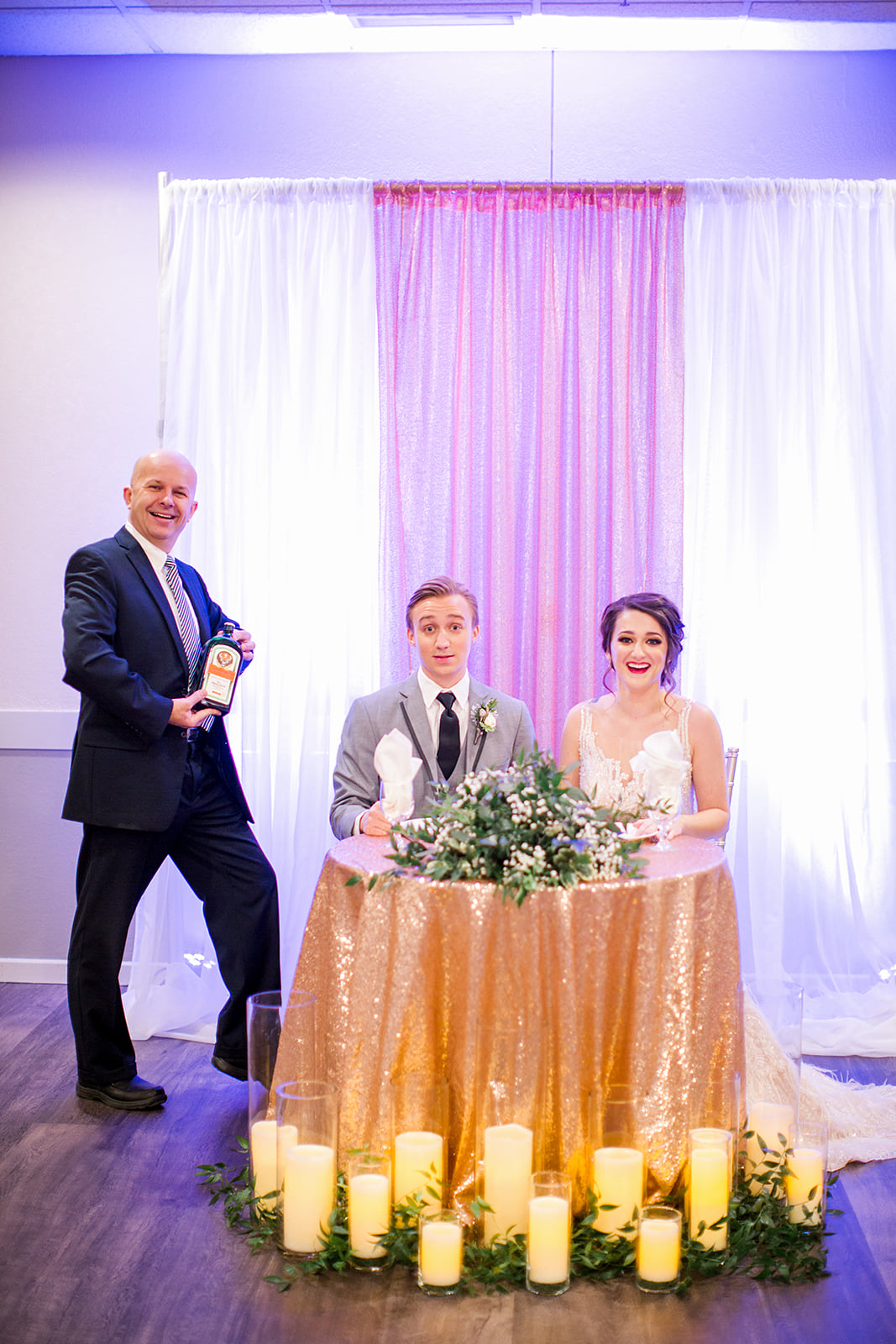 George Maverick and the happy wedding couple - affordable wedding in south metro Minnesota | photo by Rachel Graff Photography