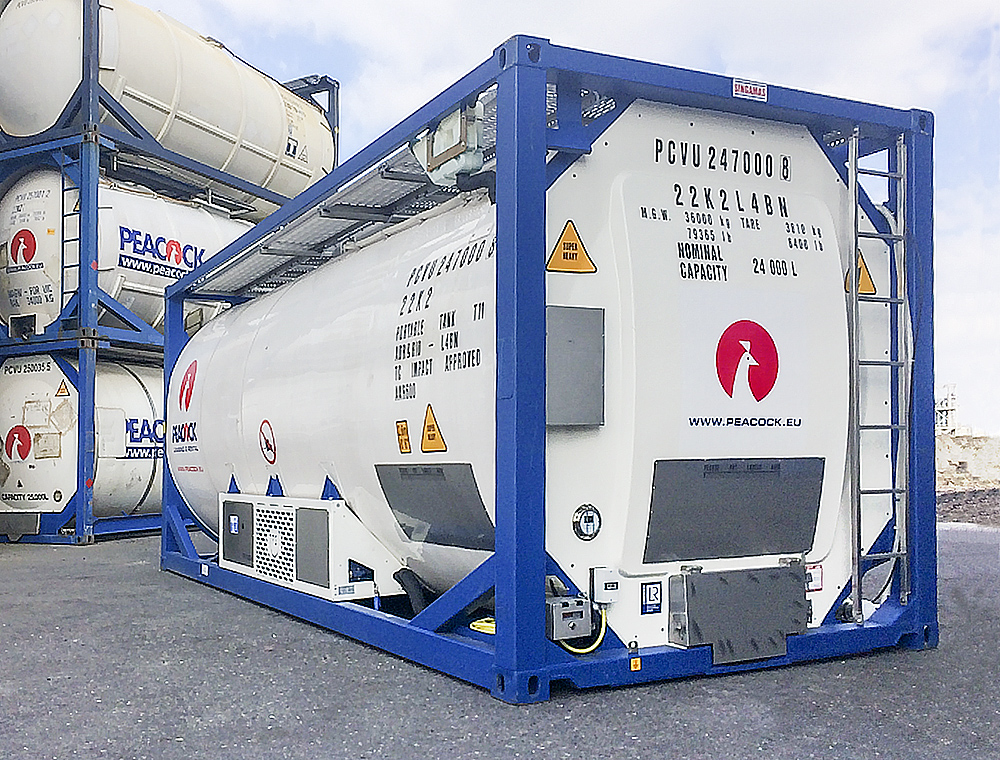 Reefer tank containers for safe food transport
