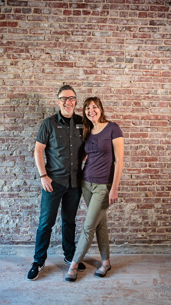 """Erik Jones & Jenefer DaviesHeliotrope Brewery - """"In Greek, Heliotrope means 'turn to the sun.' We're following the sun in the sense that we're brewing with what's in season."""""""
