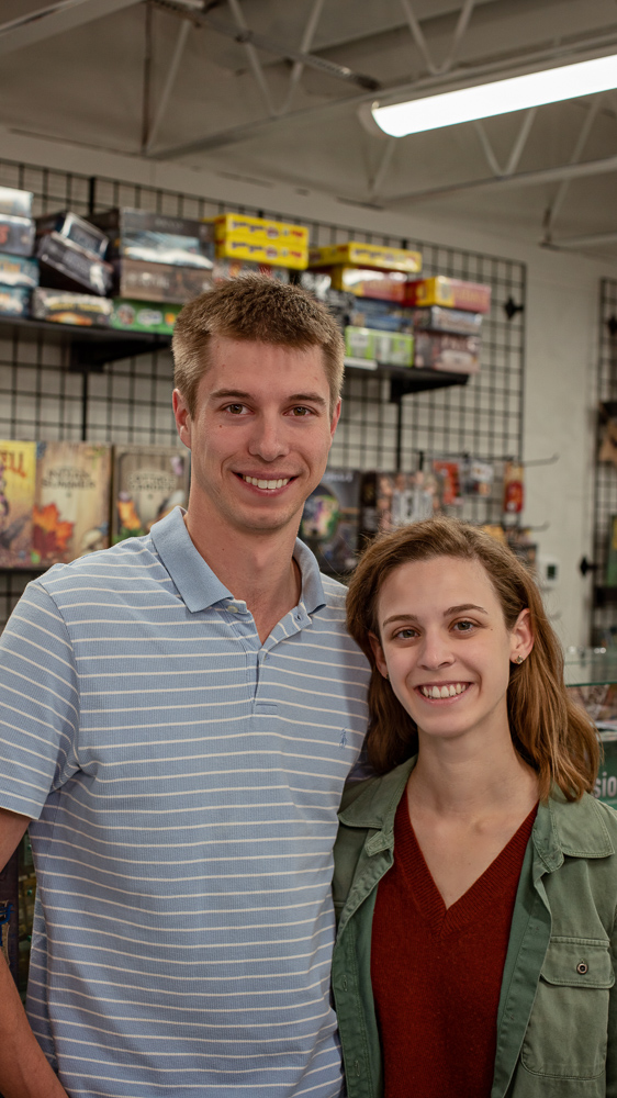 "Zander Tallman& Paige GanceJust Games Lexington - ""We're really happy to have opened with a group that we know and like. We all started businesses together at the same time. It's been really fun to bounce ideas off and support each other."""