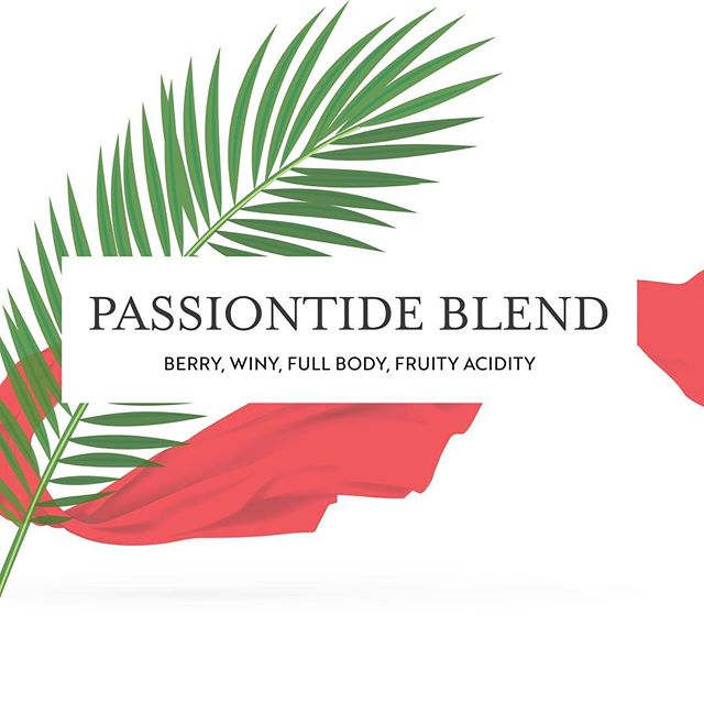 With Palm Sunday and Holy Week in mind, our craft roasters created Passiontide Blend!  Roasted using three different profiles blended to perfection, this full body Ethiopian Harrar bean offers notes of berry, wine and fruit acidity. Fruit recalls our commitment to bearing good fruit this Lenten season, while the wine acidity is suggestive of the Last Supper and the Lord's passion.  Order Passiontide Blend by this Friday for Palm Sunday pick up!