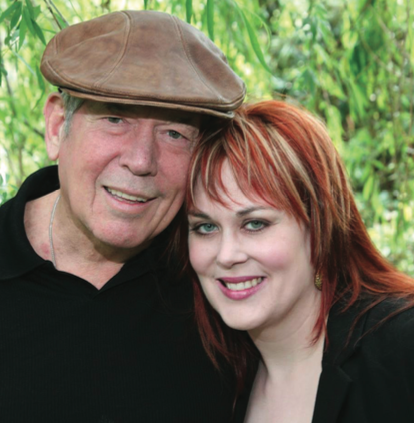 Founders of Leaf Alchemy. Amy Grimes with her father, Marlin