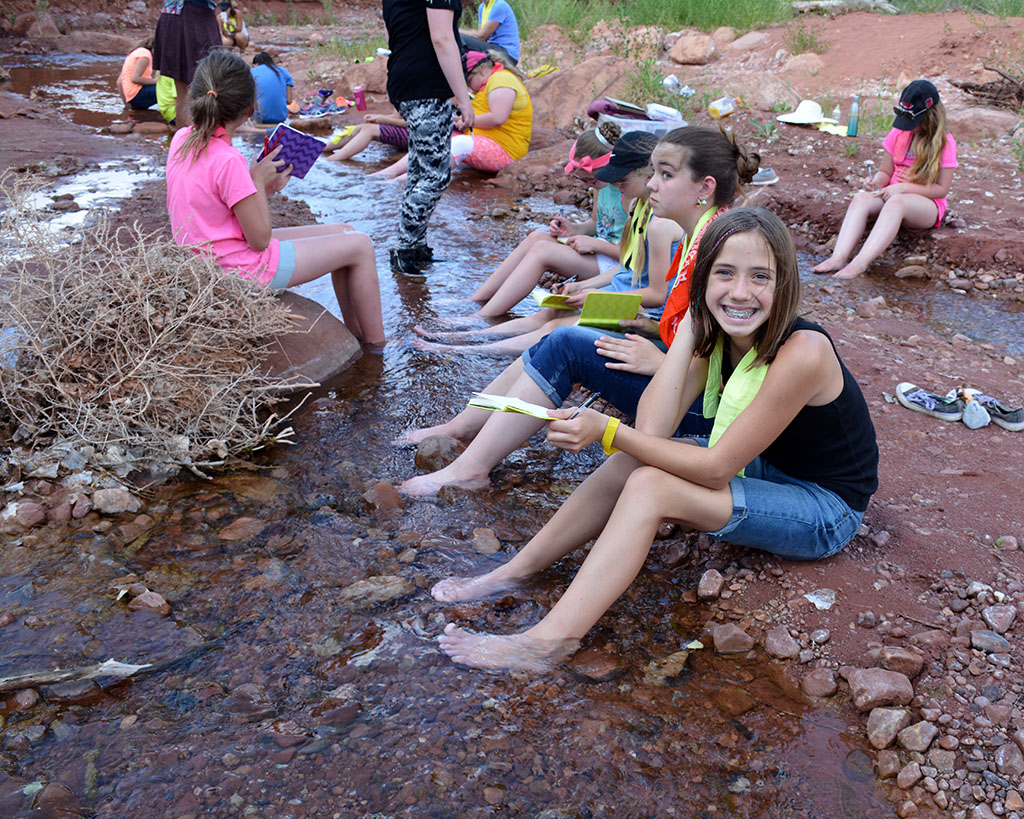 Cooling off in the creek. Moab, UT. Photo by BLM-UT.jpg