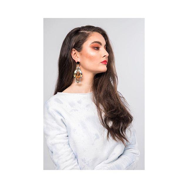 __lines matter FW19 hand dyed Rana Sweater  model @ascordeau @dulcedomodels  photographer @savcollective  hair & mua @vasilikimakeupartist  assistant stylist @anjel.mtl