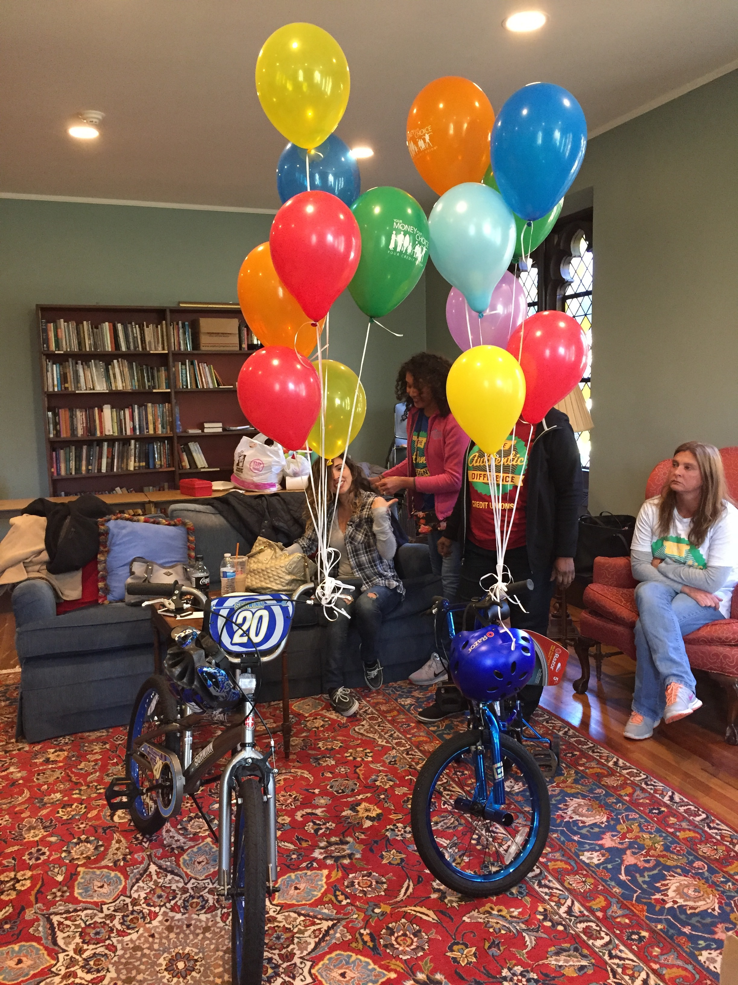 Balloons with bicycles