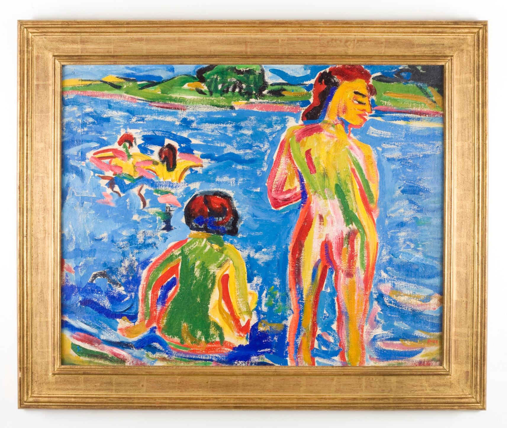 Bathers in a Pond, 1908, Erich Heckel. Photographed for Neue Galerie, New York