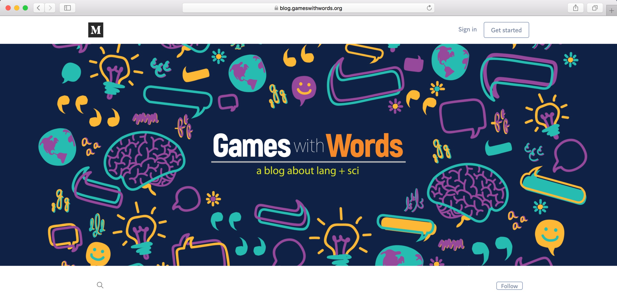 Relaunch of Games with Words blog (AFTER)