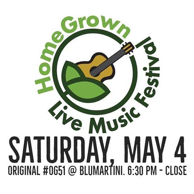 @homegrownlive2019 is back May 4th. 140 acts with a $10 wristband. Funds raised for @joes_mill  @originalog51 will be hosting a stellar lineup of original music at @blumartini_ygk