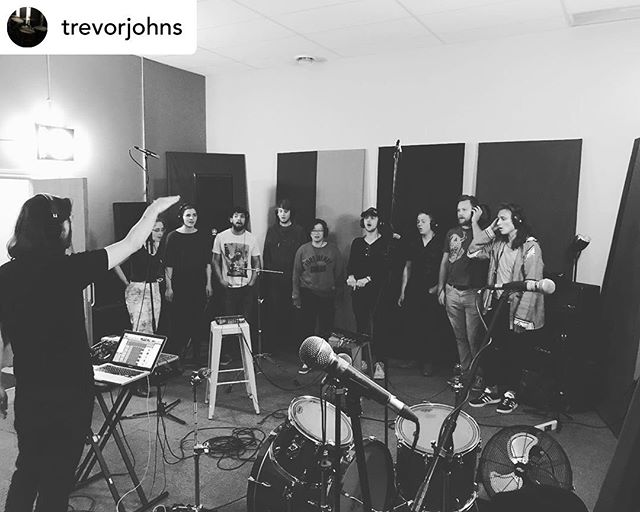 Sounding sweet as tonight folks! ………Posted @withrepost • @trevorjohns Cutting some group vocals for @thewildernesskingston with @terrybennmusic at @roswellkingston 🔥!!