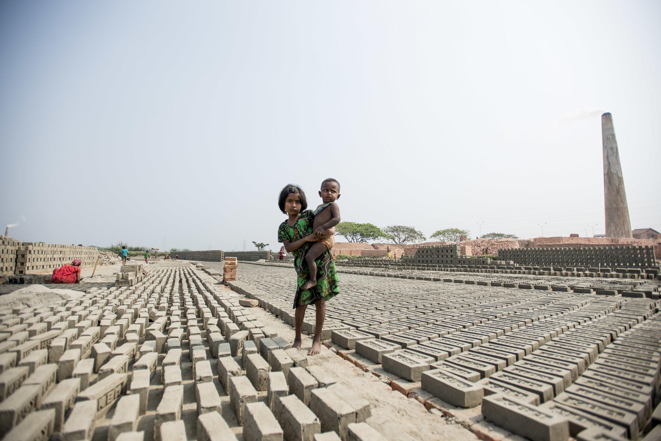 Brick kilns outside Kolkata. India. 2015.