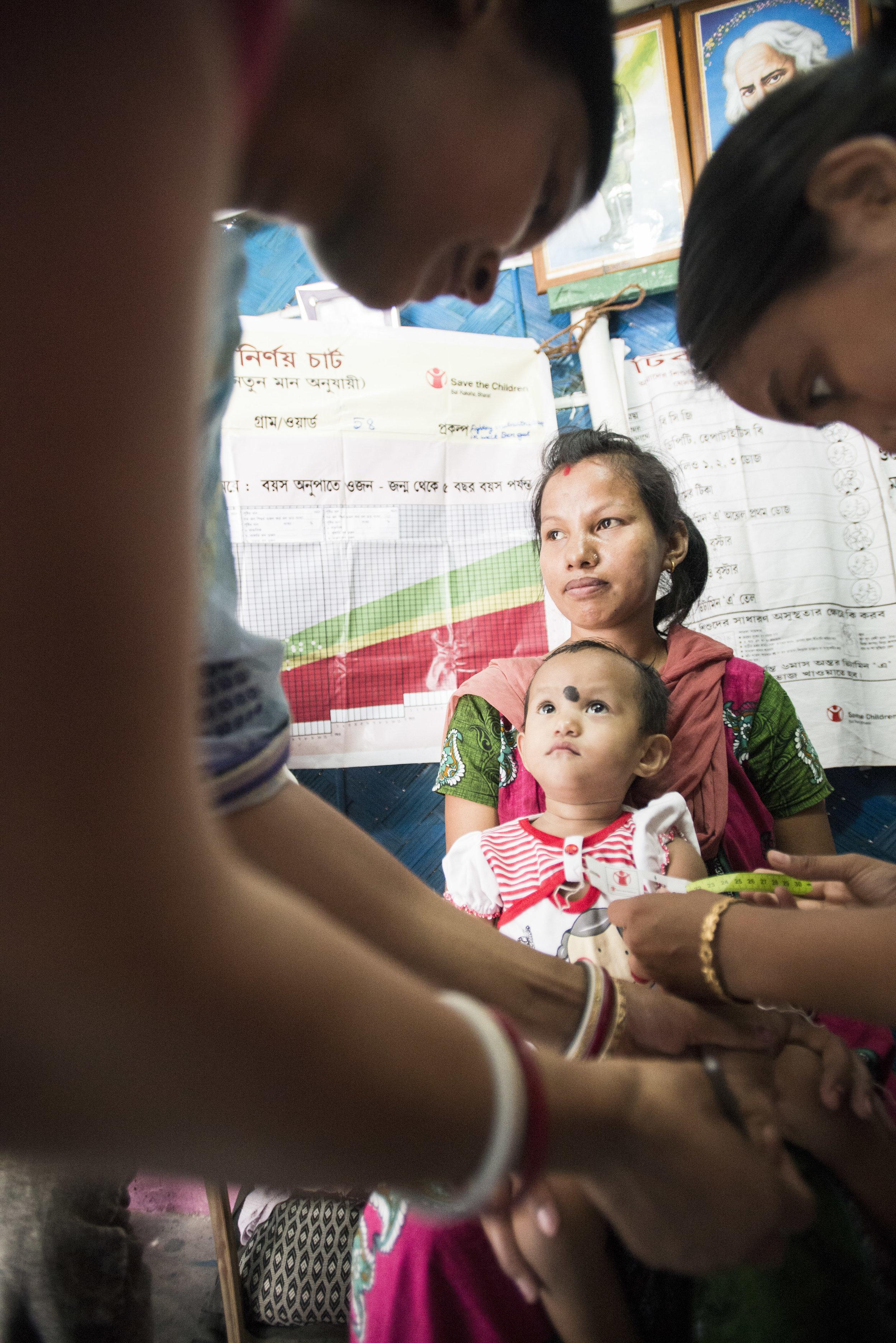 Nutrition clinic and MUAC test. Kolkata, India. 2015.