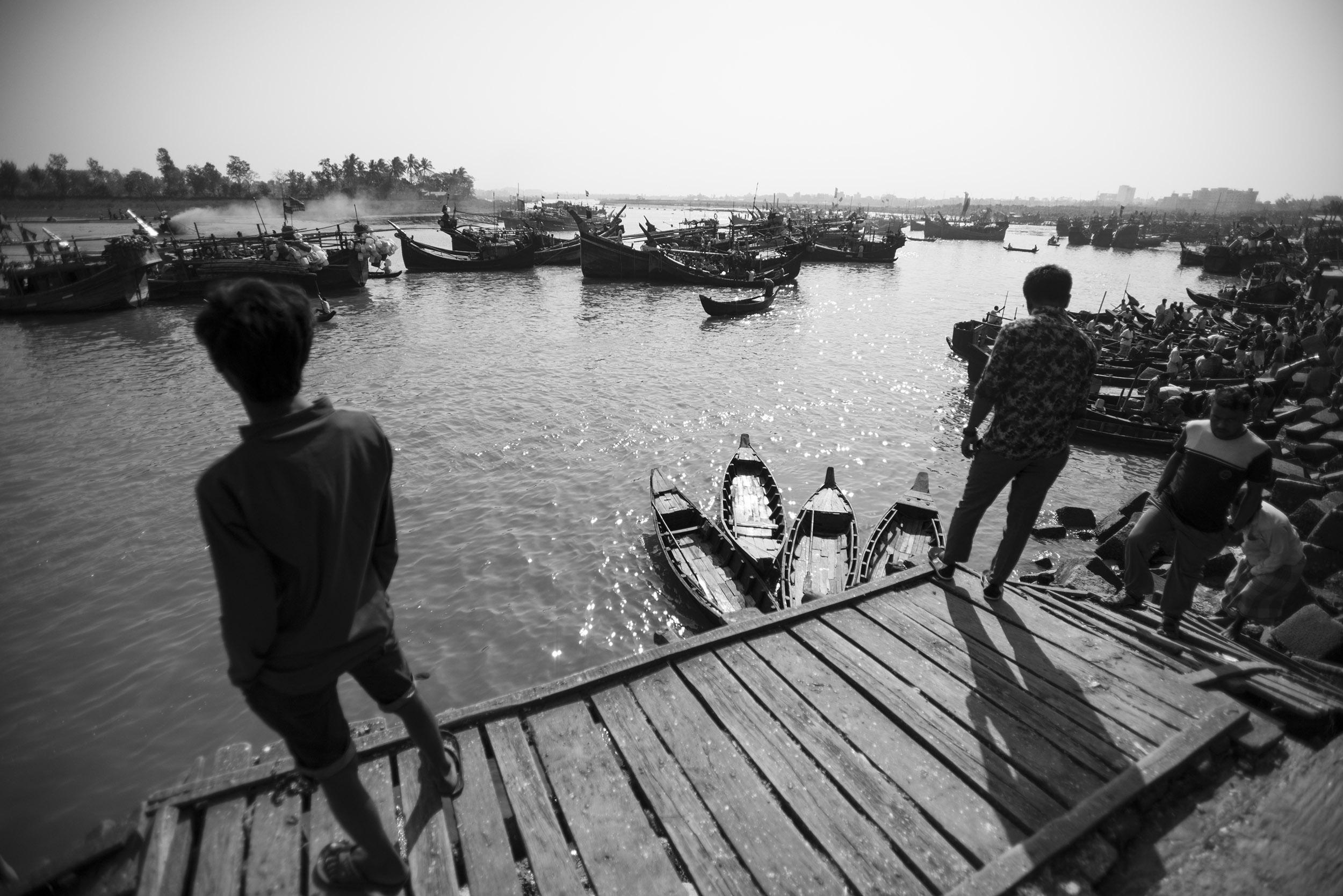 Cox's Bazar harbour. Bangladesh. 2018.