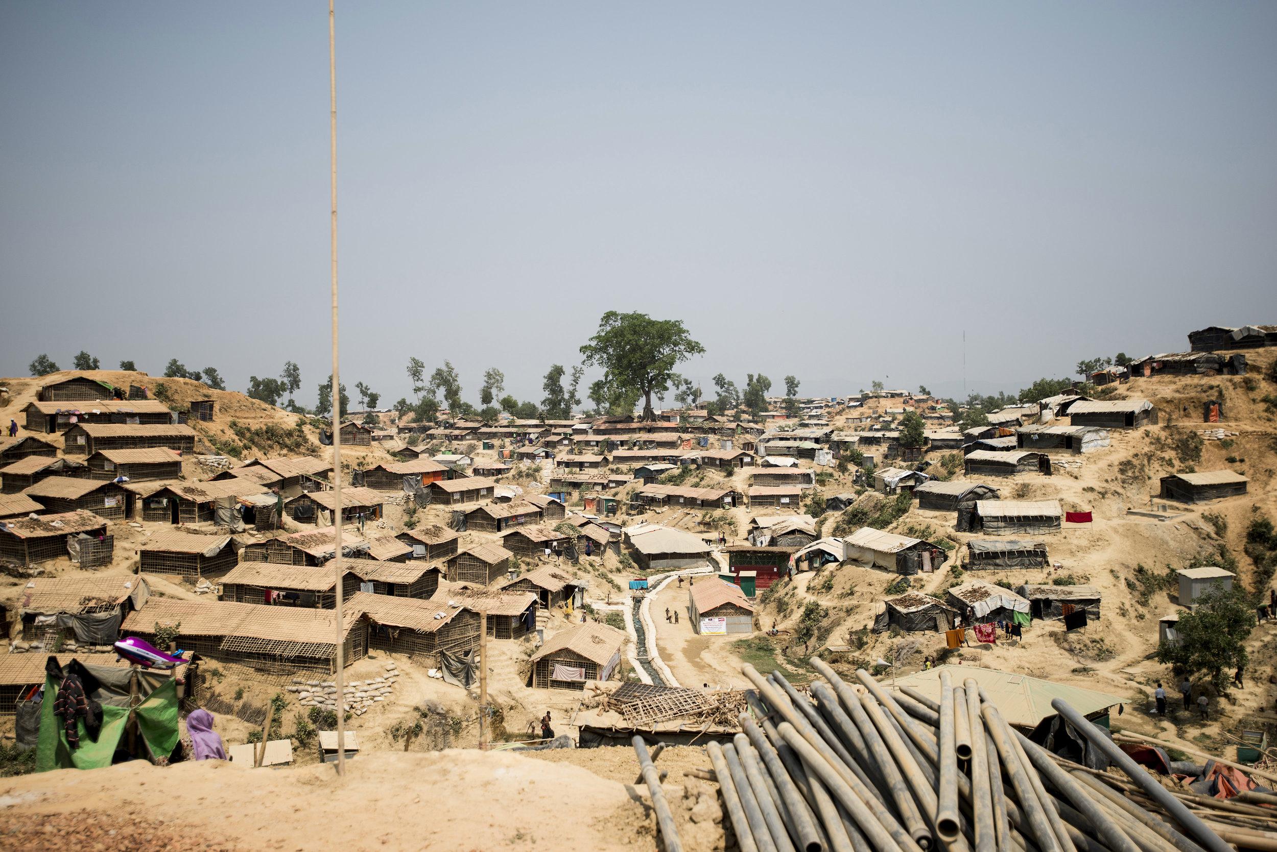 Kutupalong Refugee Camp. Cox's Bazar, Bangladesh. 2018.