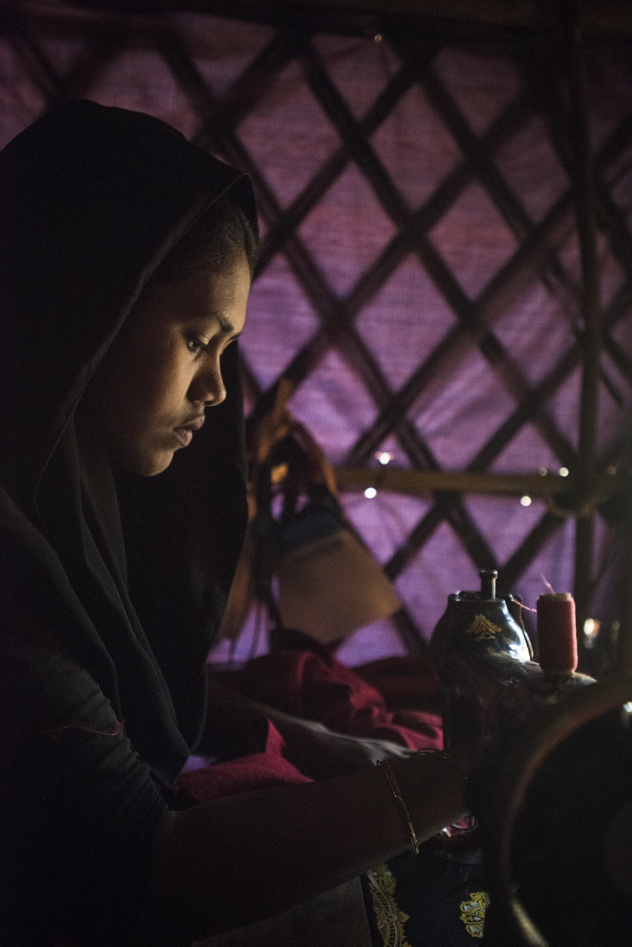 Sewing business, Kutupalong Refugee Camp. Cox's Bazar, Bangladesh. 2018.