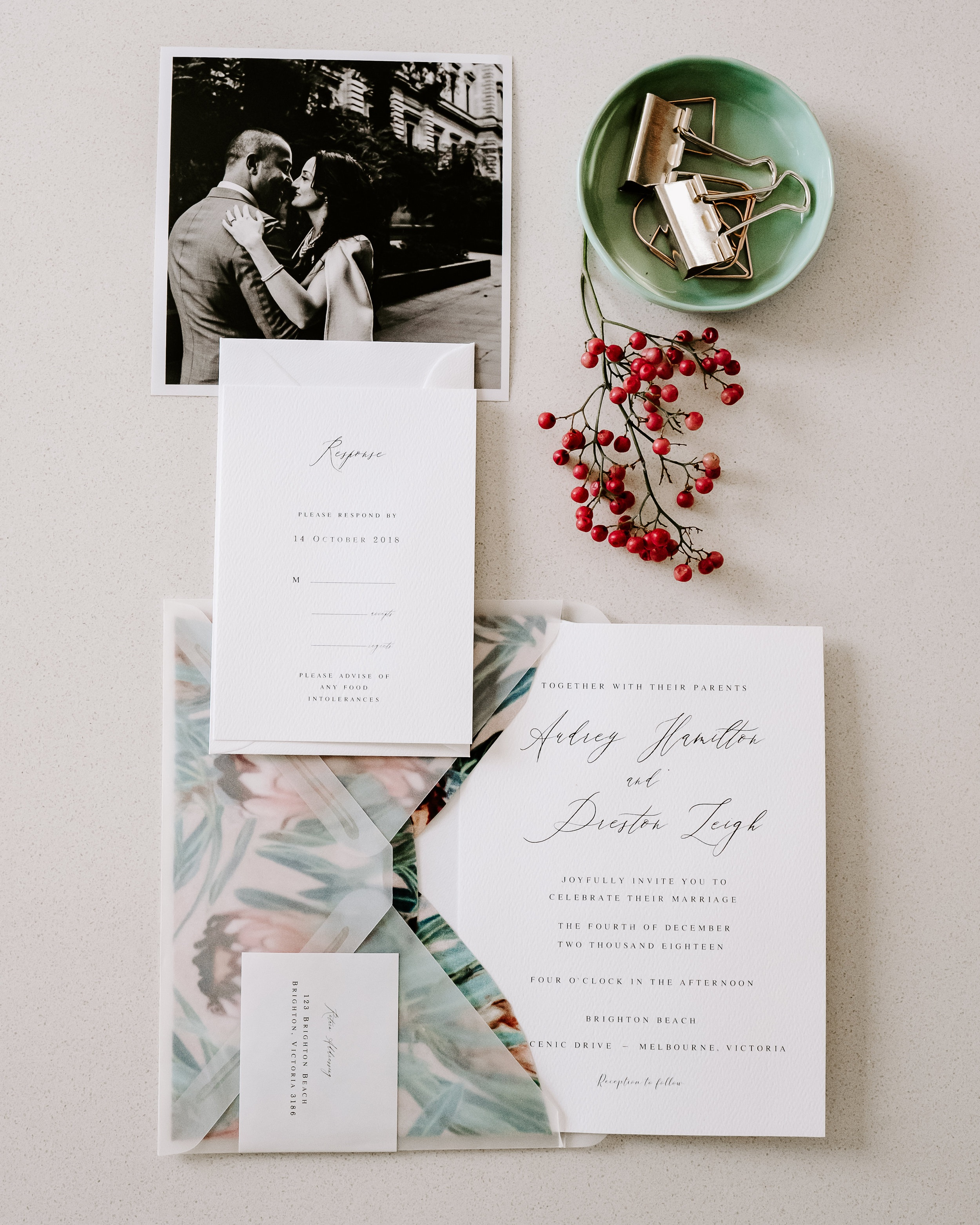 Invitations by  Thimble and Ink