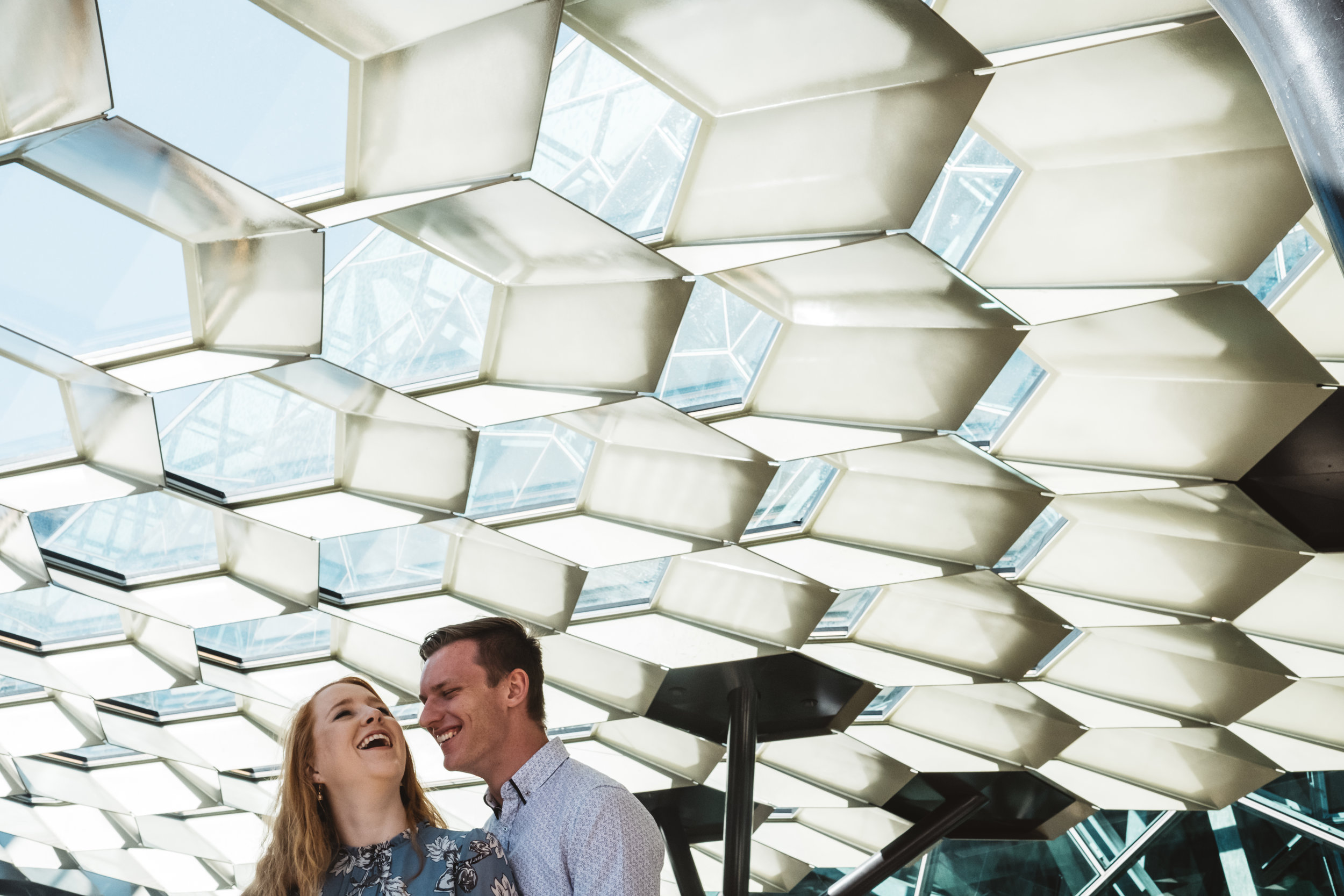 Engagement portraits and wedding portraits in federation square and melbourne CBD available.