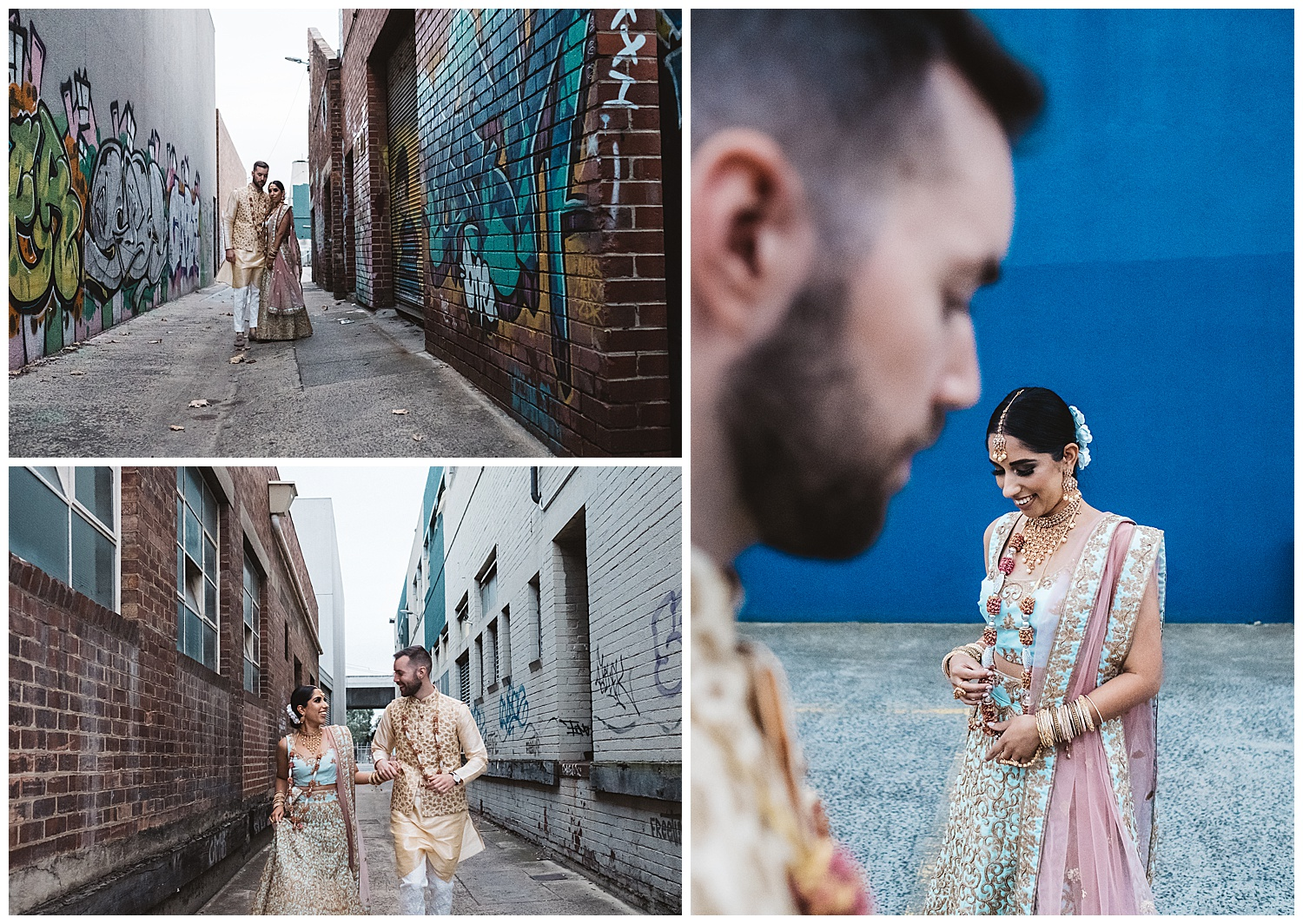urban vibes elopement and engagement photography in Melbourne cbd and Fitzroy