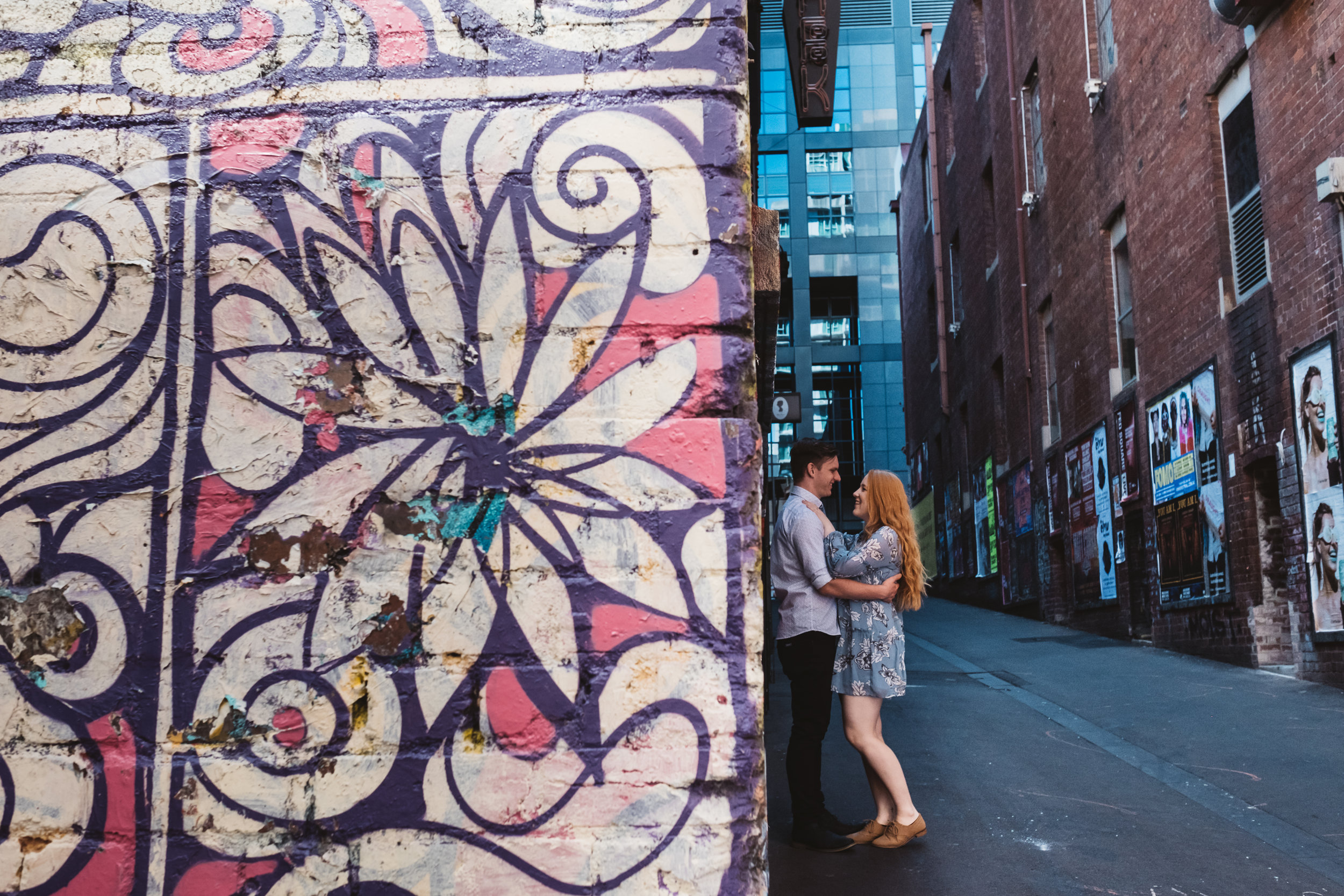 Pre wedding urban vibes and best places to get engaged in Melbourne