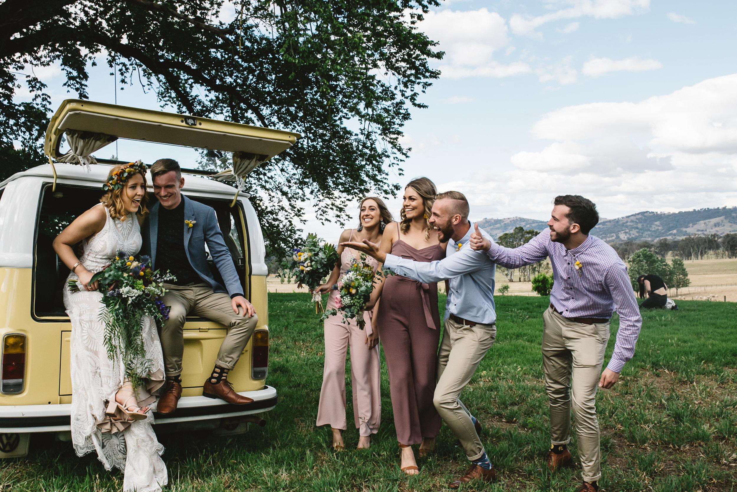 Kombi van on your wedding day
