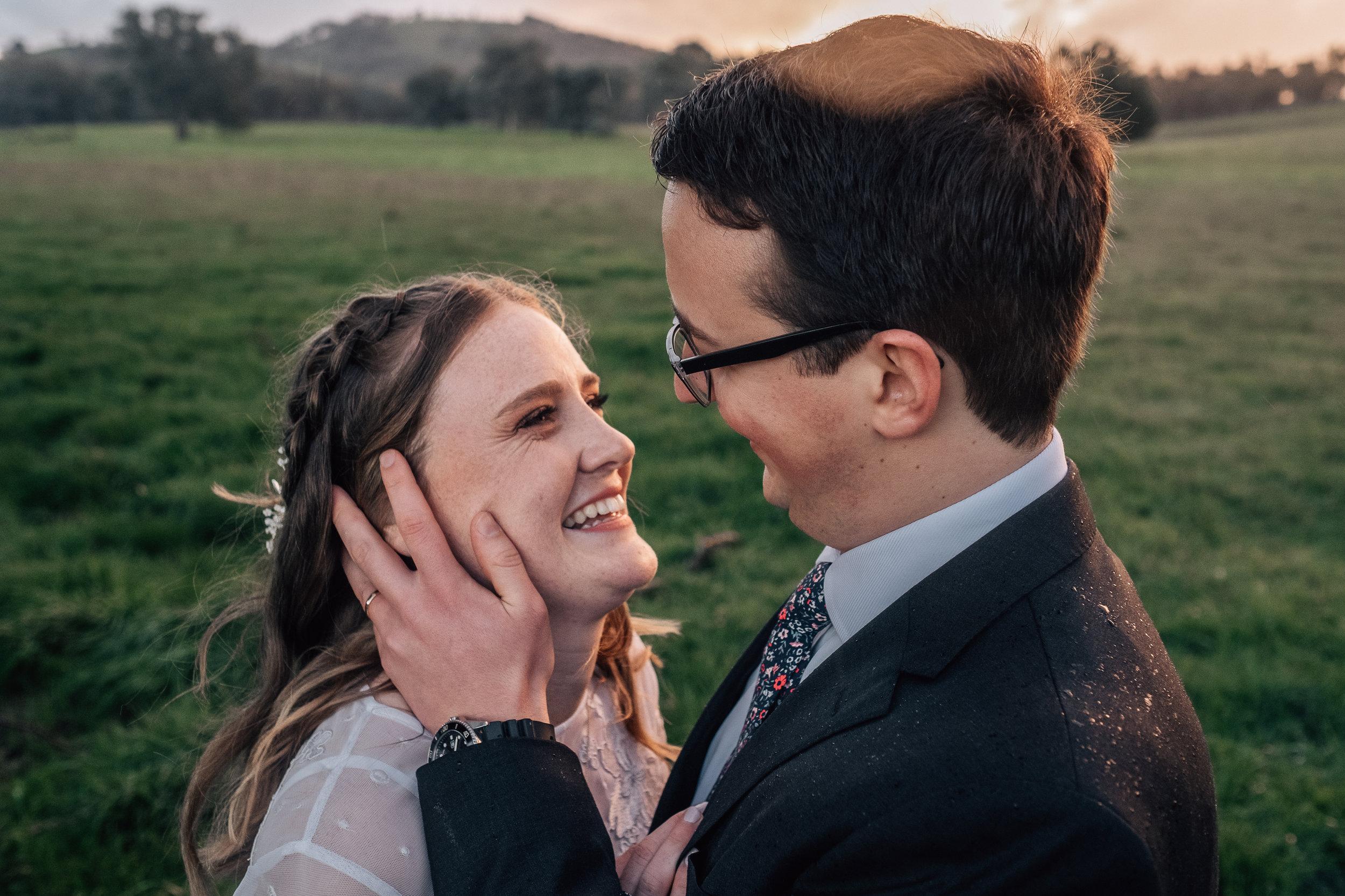 mornington peninsula bride and wedding day